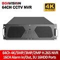3U NVR CCTV H.265/64CH H.264 4 K/5MP/3MP/2MP/960 P/720 P 16HDD Suporte 16Ch Entrada de Alarme 1080 P Reprodução Onvif P2P APLICATIVO Móvel Ver