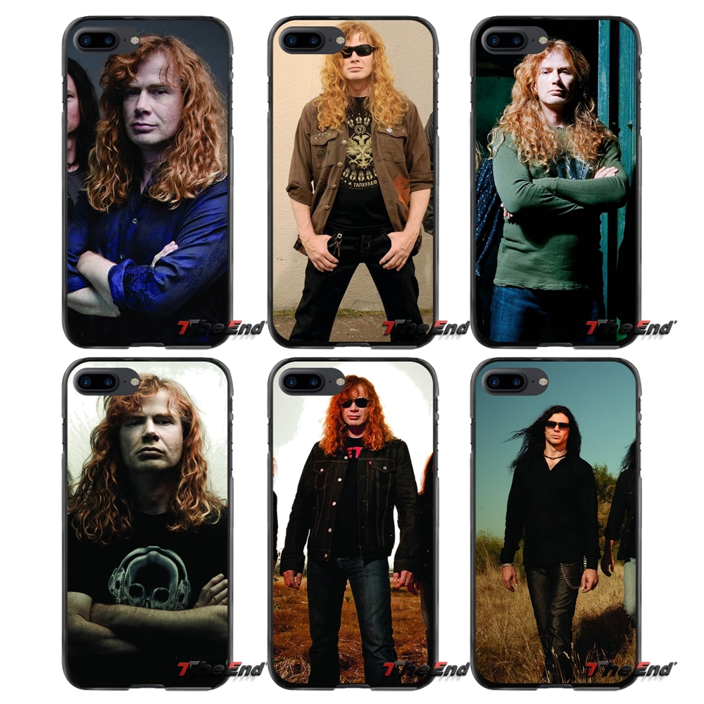 Music Megadeth For Apple iPhone 4 4S 5 5S 5C SE 6 6S 7 8 Plus X iPod Touch 4 5 6 Accessories Phone Cases Covers