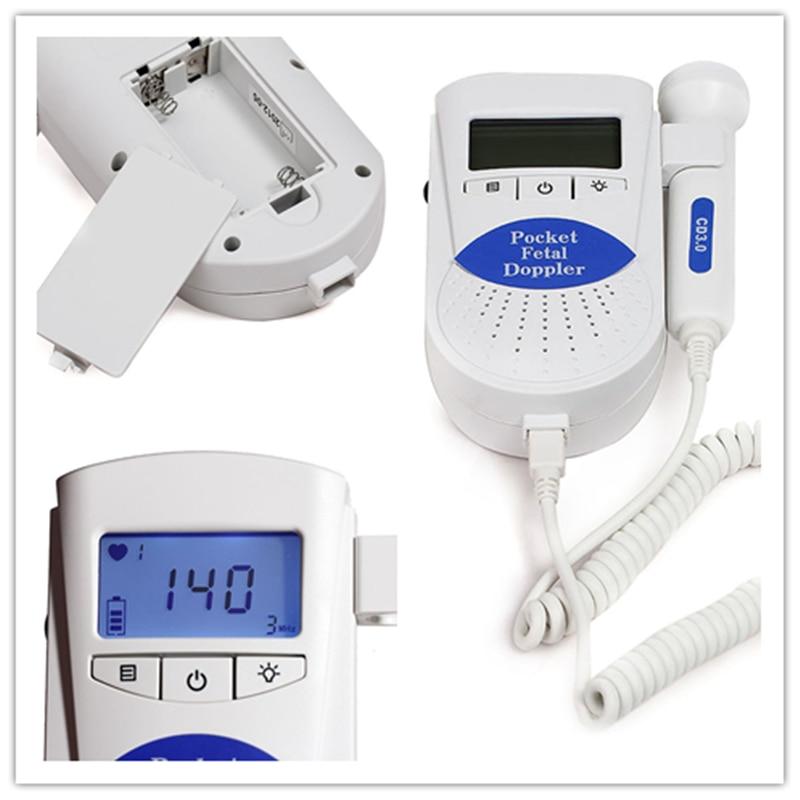 Contec Manufacturer Shipping Sonoline B CE FDA Prenatal Fetal Doppler 3Mhz Probe Back light Home Use Pocket Heart Rate Monitor