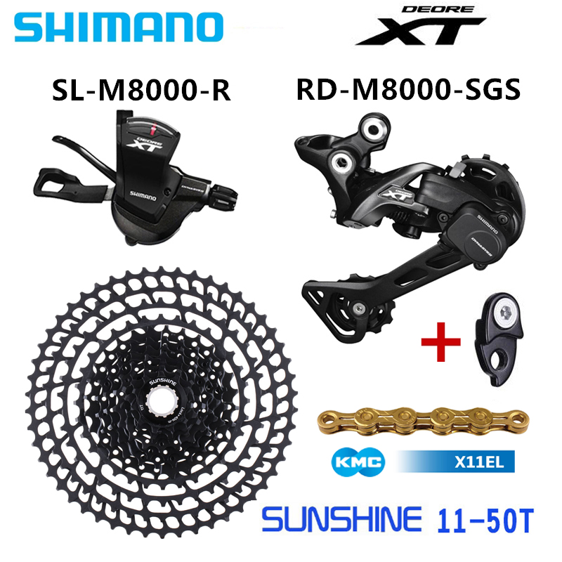 SHIMANO DEORE XT M8000 Groupset MTB Mountain Bike 1x11 Speed 50T SL RD SUNSHNE 11 50T