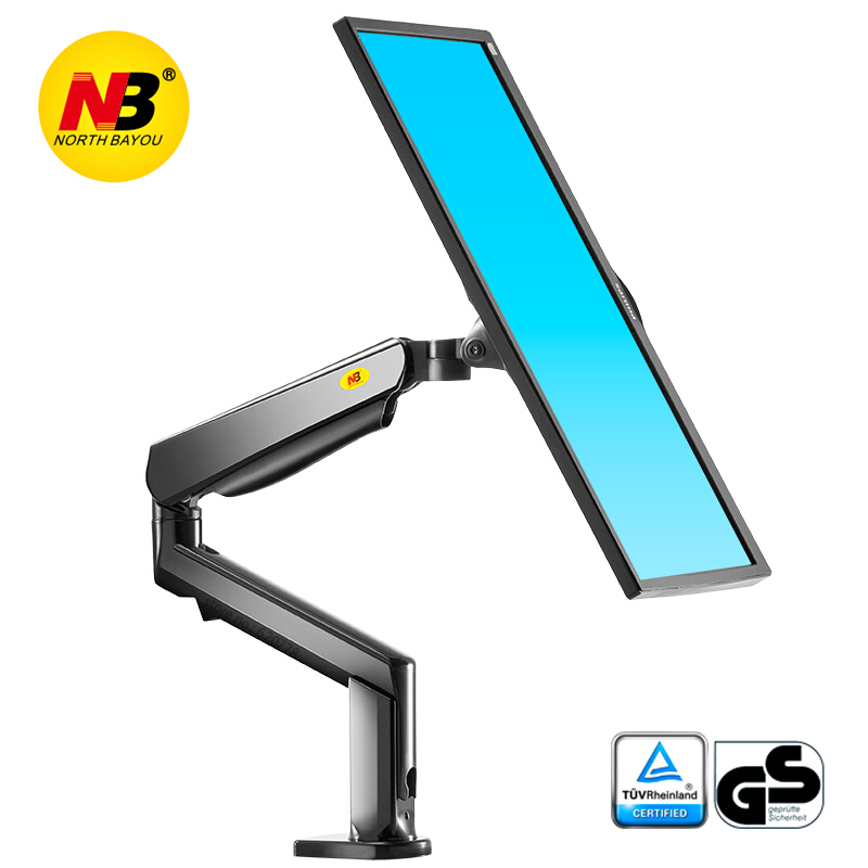 NB F90A Full Motion 22-32 Inch Screen Monitor Holder Mechanical Spring Long Arm LED LCD Monitor Mount Support With 2 USB Ports