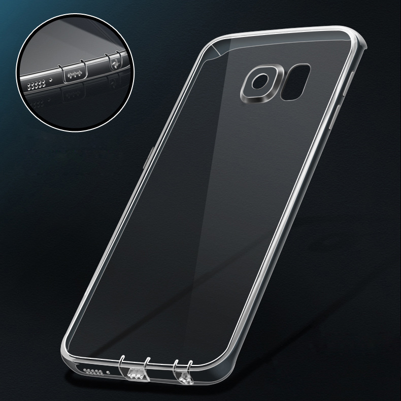 innovative design ac2fc 2fab5 US $13.9 |10pcs/lot, S7 Or S7 edge! Soft Ultrathin Slim TPU Clear  Transparent Case for Samsung Galaxy S7/ EDGE Crystal Cover + Dust Plug on  ...