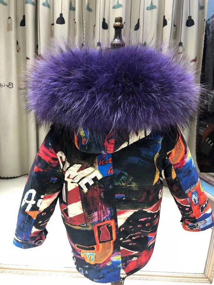 child winter real fur parkas coat (27)