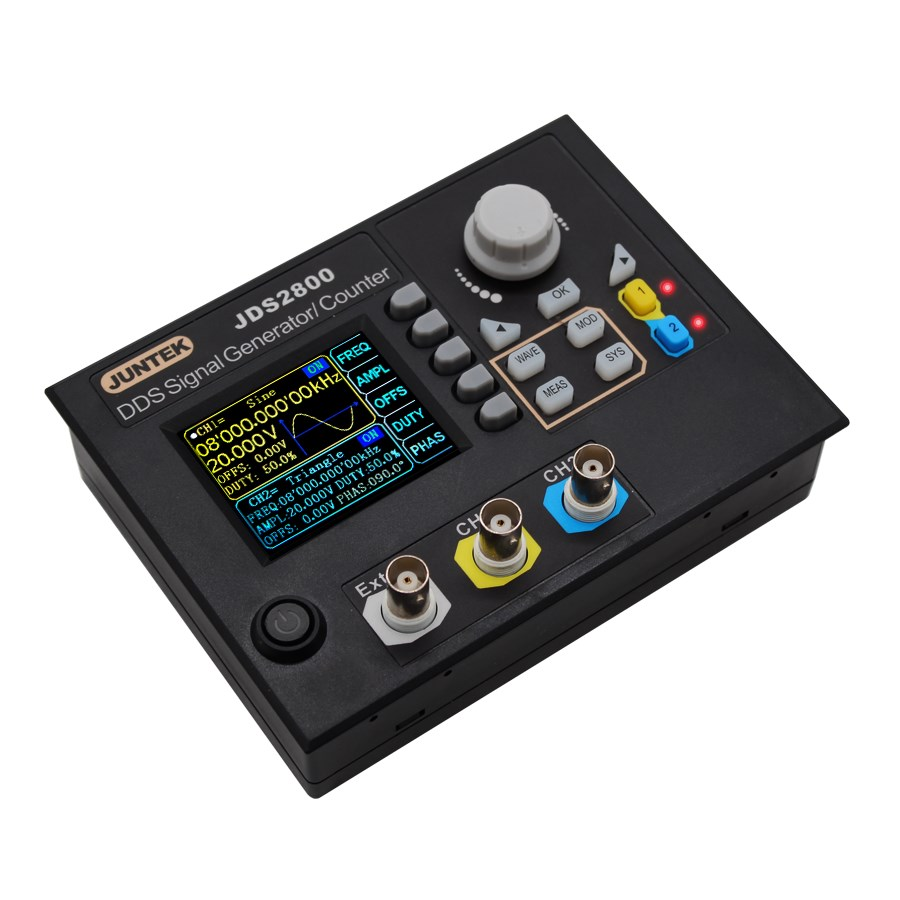 JDS2800 15MHZ Digital Dual-channel DDS Function Signal Generator Arbitrary Waveform Pulse Signal Generator 30%off hot selling signal generator rigol dg1022u updated from dg1022 2 channel 25 mhz function waveform signal generator