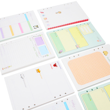 Kawai Loose Leaf 6 Holes Planner Filler Papers For Filofax Spiral Notebook Binder Refill Inner Pages Daily Weekly Monthly