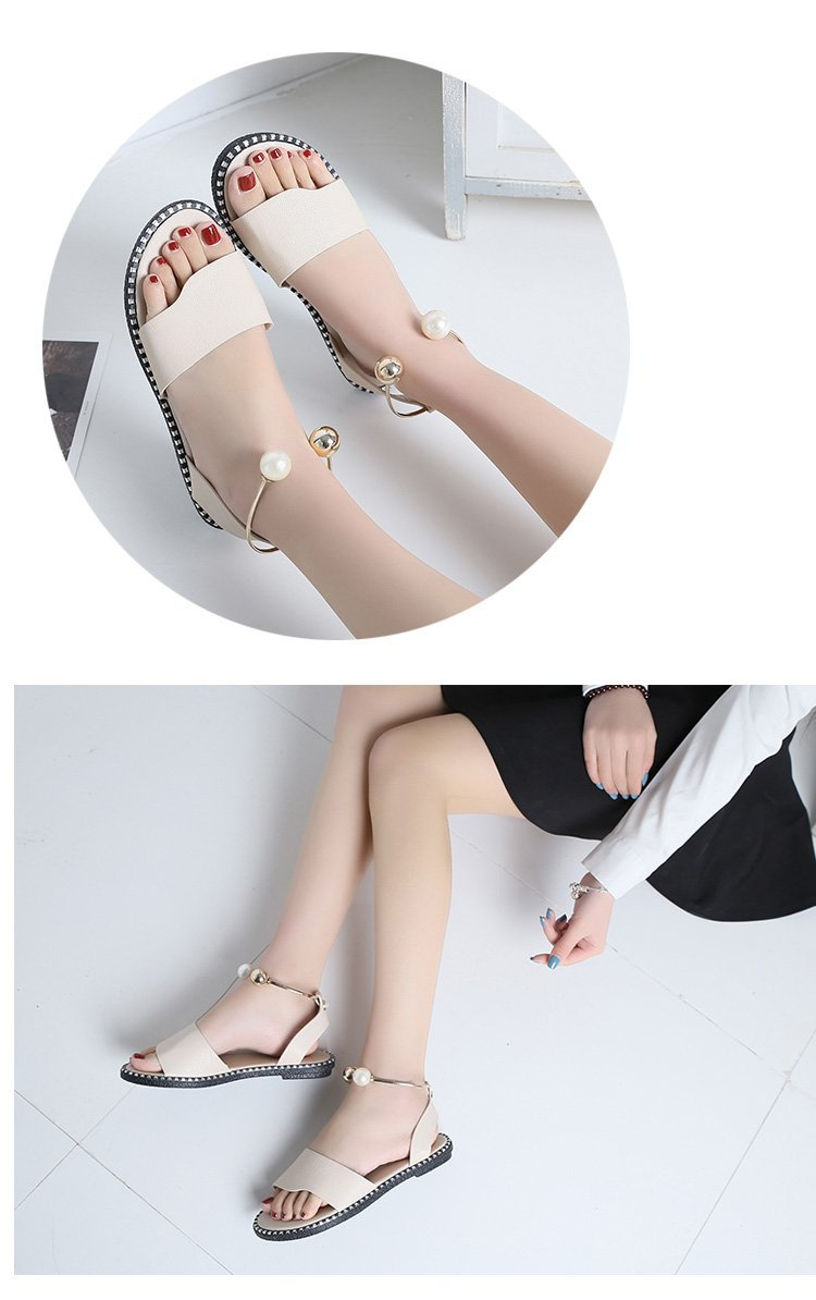 HTB1TH5bbynrK1Rjy1Xcq6yeDVXa0 HOKSVZY 2019 Sandals Flip Flops New Summer Fashion Rome Slip-On Breathable Non-slip Shoes Woman Slides Solid DFGD-A12