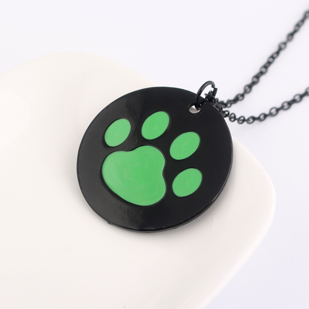 22ac74efe2 Miraculous Ladybug Necklace Cat Noir Green Cat s Paw Logo Necklaces  Pendants Women Men Jewelry Accessories-in Pendant Necklaces from Jewelry    Accessories ...