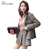 DOSOMA 2018 New Arrival Fashion Pants Suits Women Blazer 2 Two Piece Set Striped Jacket Shorts
