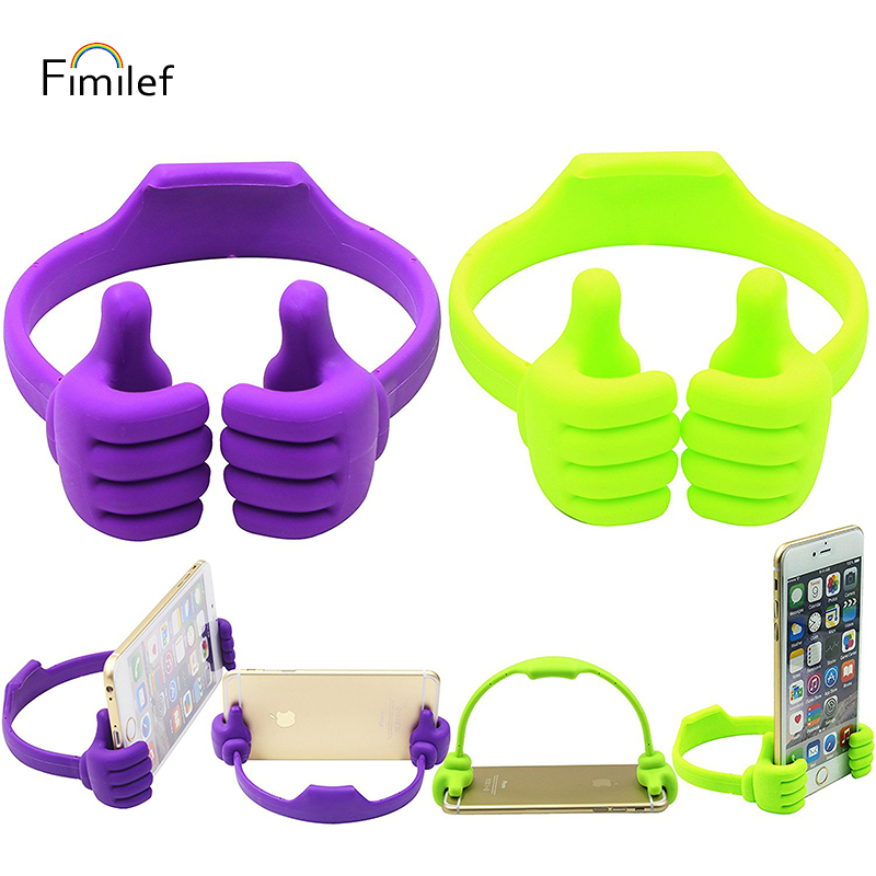 Fimilef Universal Lazy Tablets Phone Holder Flexible Mobile Cell Phone Desk Desktop Table Mount Stand Portable Thumb Bracket