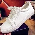 Tenis feminino 2016 nova branco maré sapatos de fundo chato do sexo feminino Coreano moda sapatos casuais clássicos