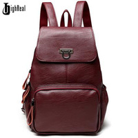Designer Women S Backpacks Genuine Leather Female Backpack Women School Bag For Girls Large Capacity Shoulder