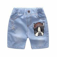 Alta calidad Vaqueros Pantalones cortos algodón casual niños Niños  Pantalones cortos cintura elástica color sólido corto Pantalo. 53ef9f229d34