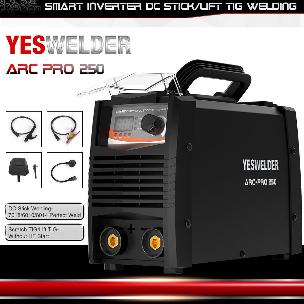 США YESWELDER ARC 250 PRO IP21S дуга инвертора сварочный аппарат MMA сварщика для сварки