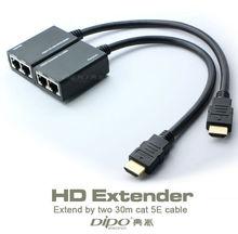 HDMI удлинитель 30 М 1080 P по cat5e кабель ПК к HDTV адаптер без внешнего источника питания
