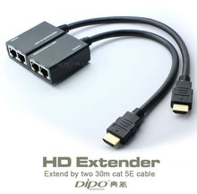 hdmi extender 30m 1080P over the Cat5e cable PC to HDTV Adapter No external power supply