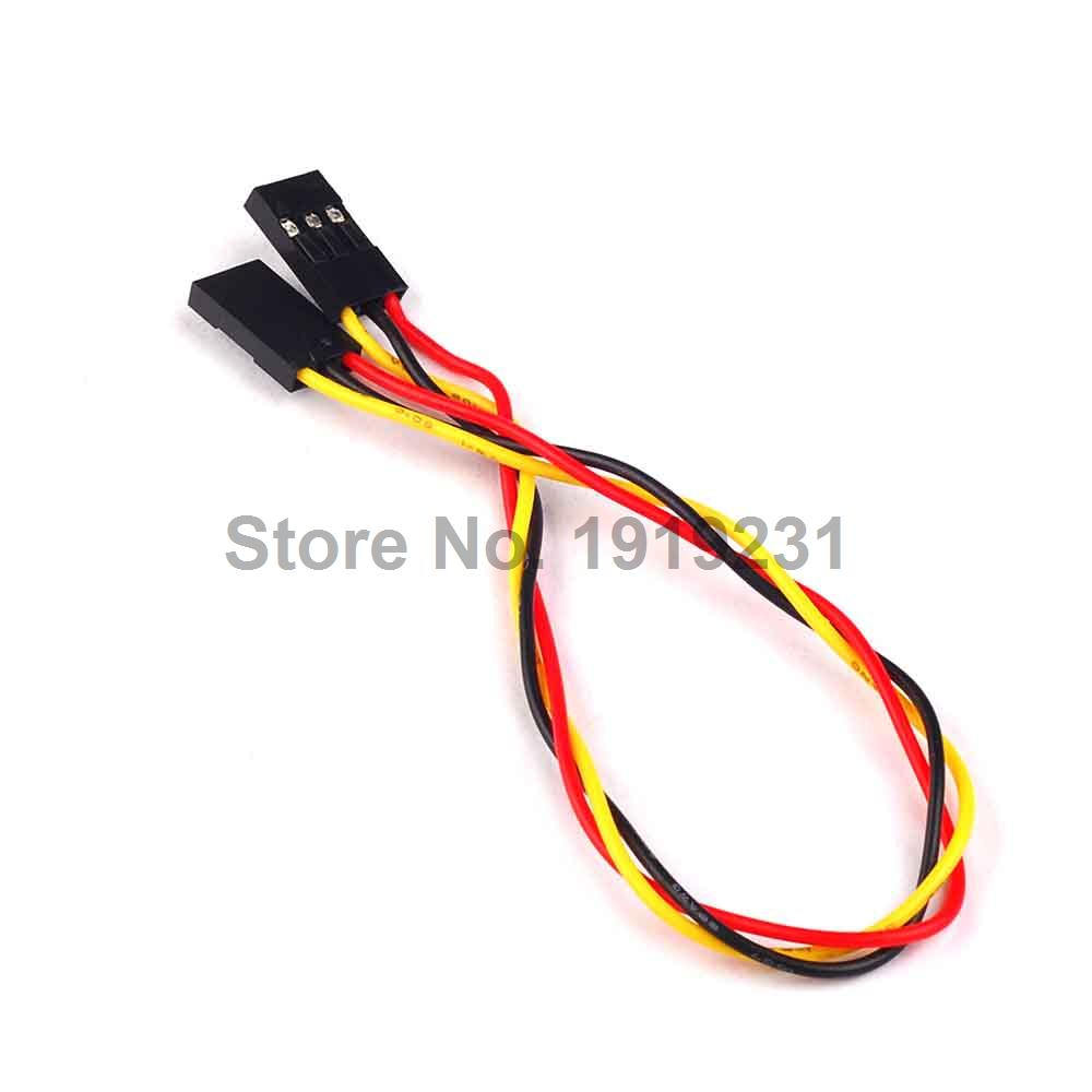 10PCS 3Pin 3P F/F Jumper Wire 200mm 20cm Female to Female Dupont Cable 100pcs dupont head 2 54mm 4p 1x4p dupont plastic shell pin head connector jumper wire cable housing plug female