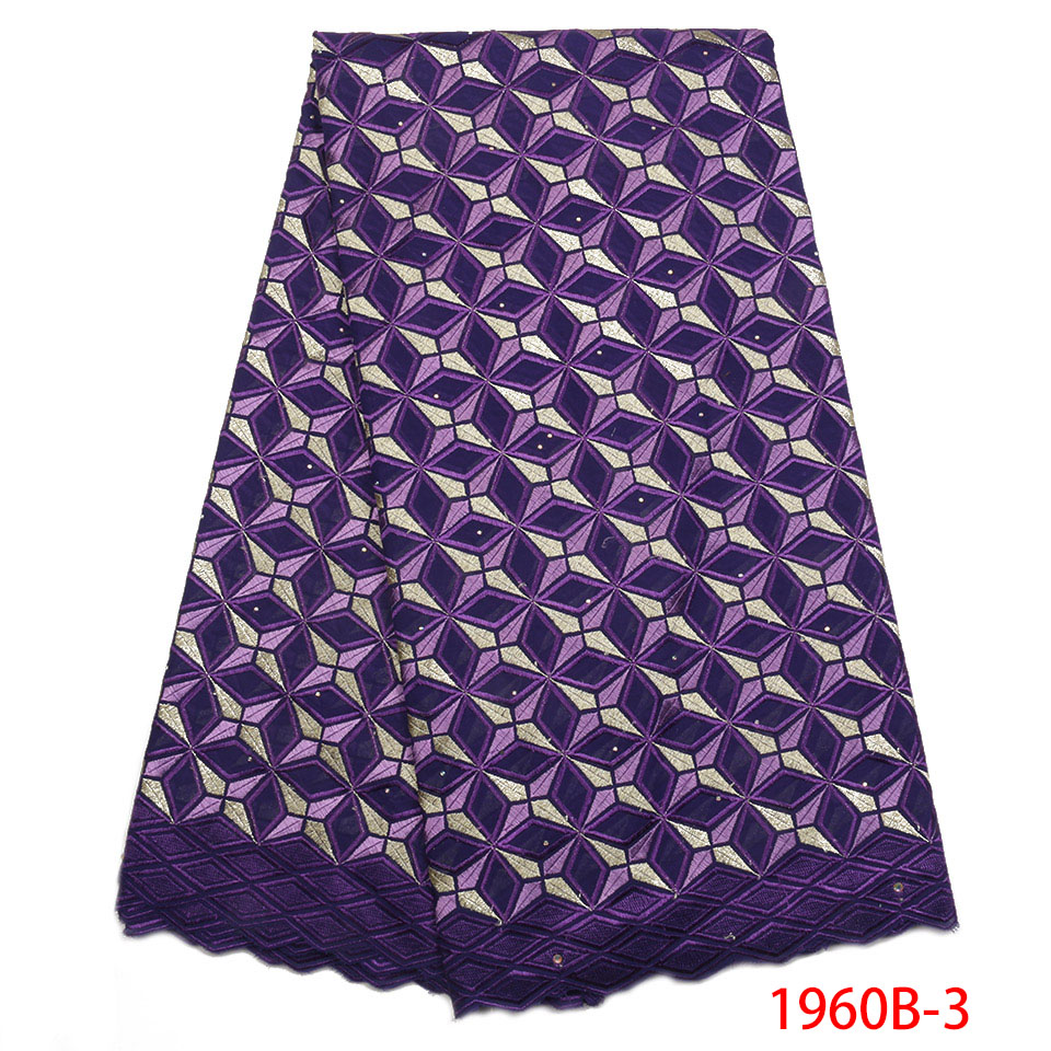 2019 New Arrival Nigerian Dry Cotton Fabric Lace Swiss Voile Lace In Switzerland Man Clothing With