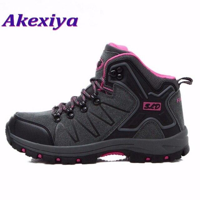 Akexiya Women Hiking Shoes Outdoor Climbing Zapatos Female Trekking Boots Sports Shoes Waterproof Sneakers Outventure outventure кроссовки женские outventure tr2