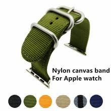 New Sport woven nylon strap band for apple watch 3 42mm 38mm wrist bracelet belt fabric-like nylon band for iwatch 3/2/1