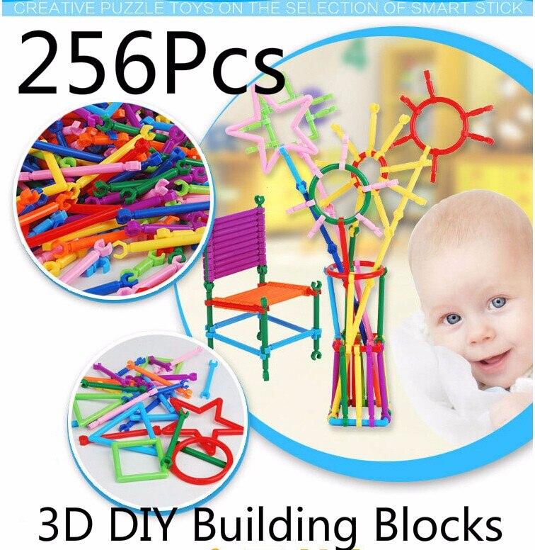 Christmas 256 Pieces Bricks 3D DIY Building Blocks Set Block Toy Educational Intelligence Toys