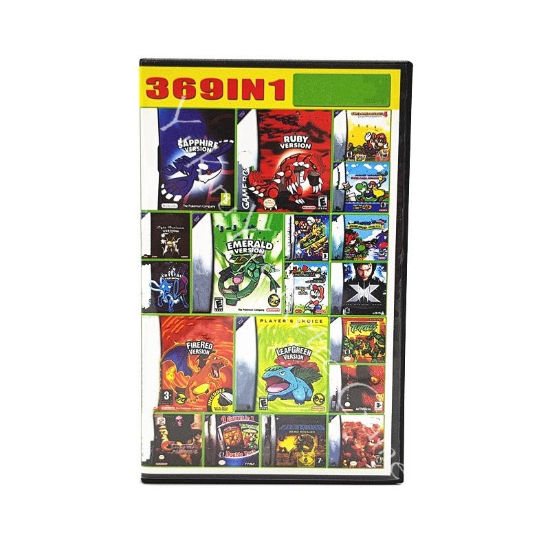 369 in 1 Video Game Compilation Collection Memory Cartridge Card for 32 Bit Console Accessories