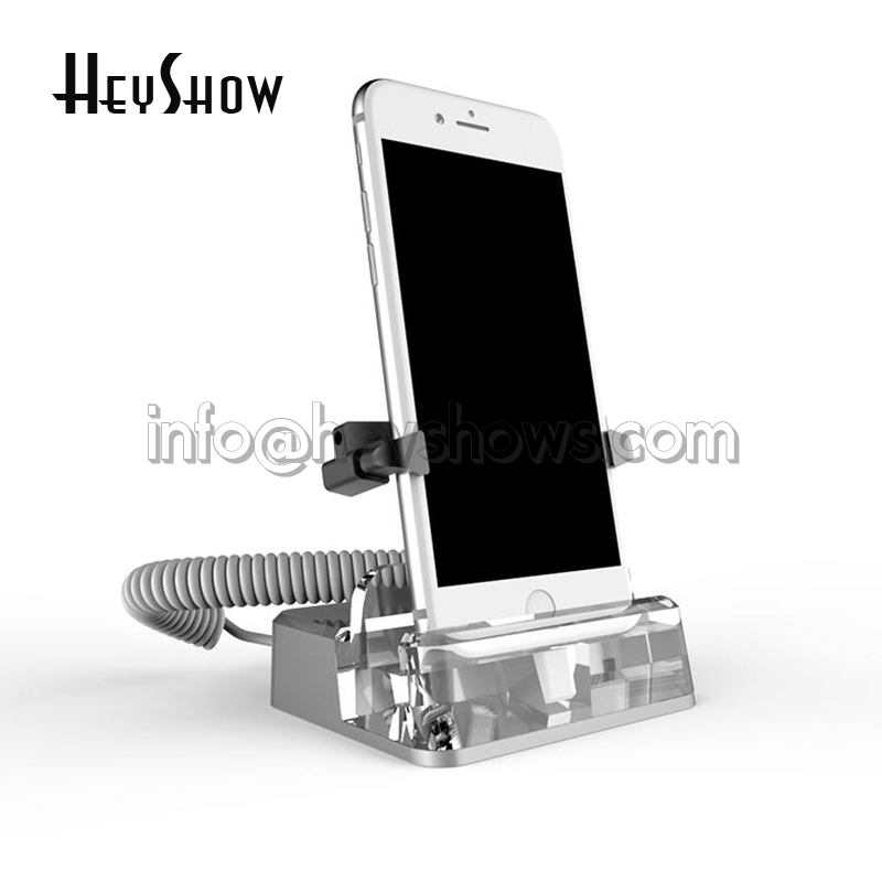 10x Wholesale Acrylic Mobile Phone Security Display Stand Anti Theft For Iphone Burglar Alarm System With Clamp Wireless Control