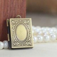3PCS 19X26MM Flower book locket necklace pendant - NO04791