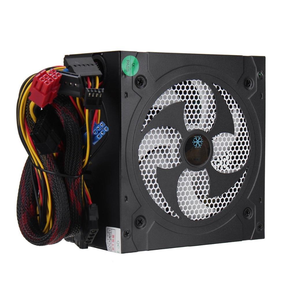 все цены на Desktop Power 500W Quiet Power Switching 12V ATX BTC Power Supply SATA 20PIN+4PIN Power Supply Computer Chassis For Intel AMD PC онлайн
