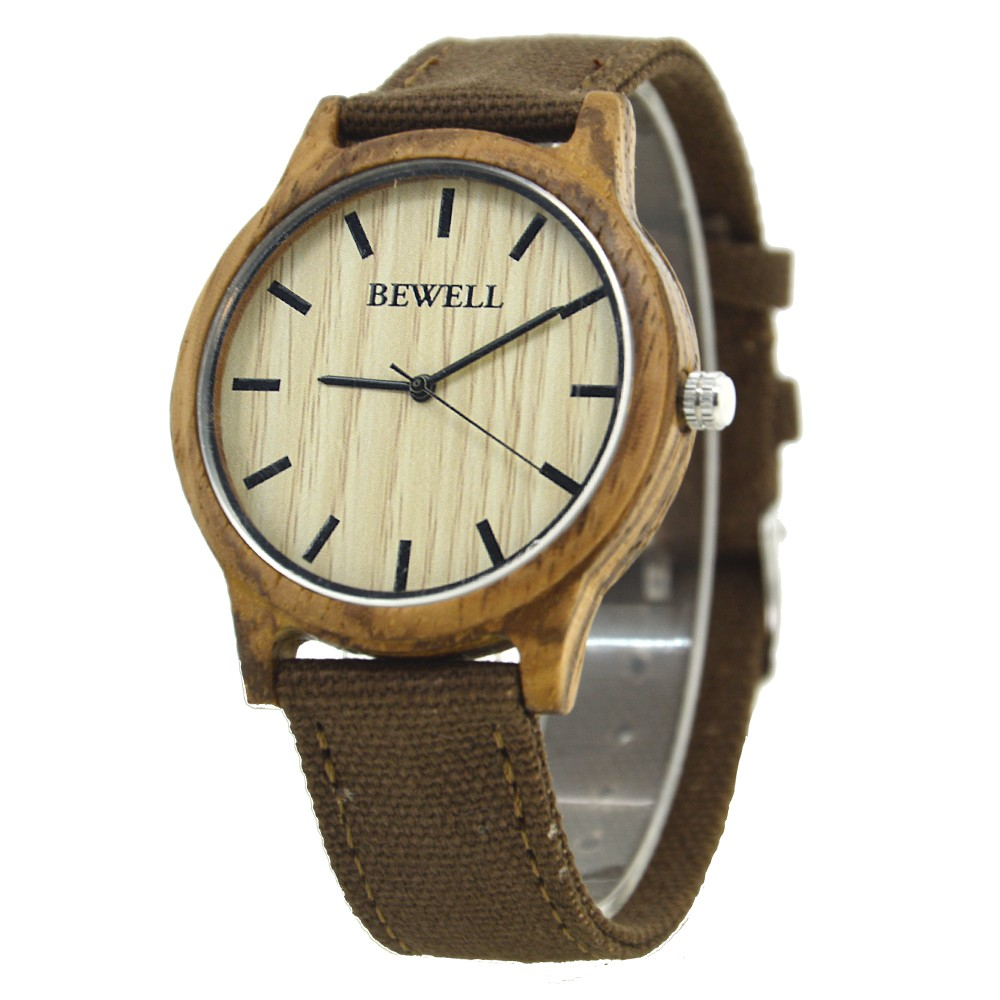 BEWELL Bamboo Wood Watch Analog Digital For Men 59