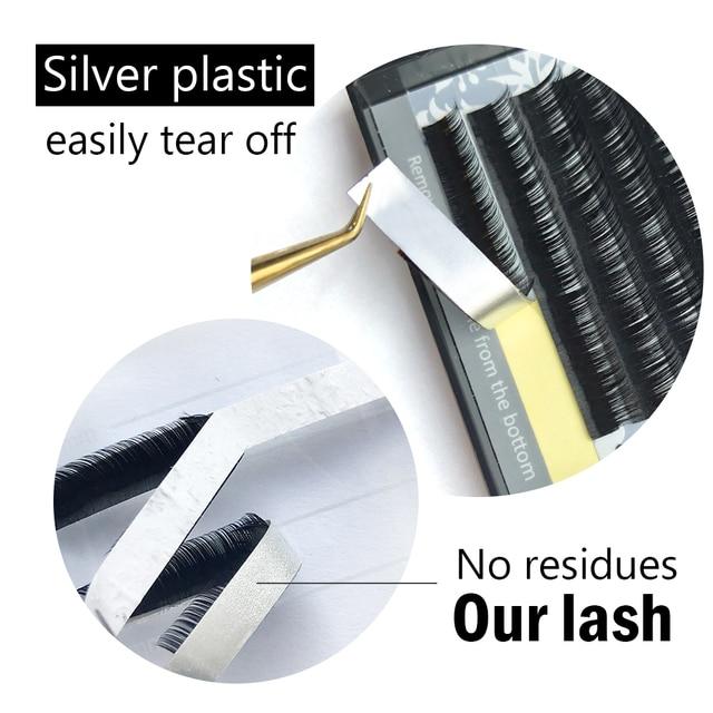 NAGARAKU 16rows 7~25mm mix premium natural synthetic mink individual eyelash extension maquiagem cilios makeup tool 2