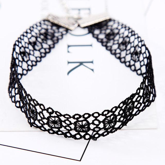 Tienda Online N246 gargantillas Collares Encaje tatuaje gótico ...