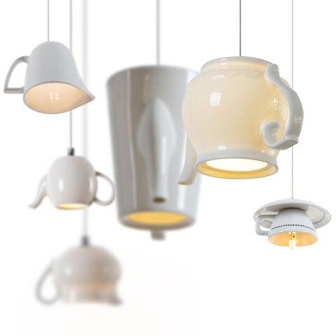 luzes led nordicas de ceramica luminaria suspensa