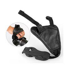 Ручка для камеры из искусственной кожи, мягкий ремешок на запястье для Nikon D7100 D5500 D5300 D3300 D610 для Canon sony SLR/DSLR черного цвета