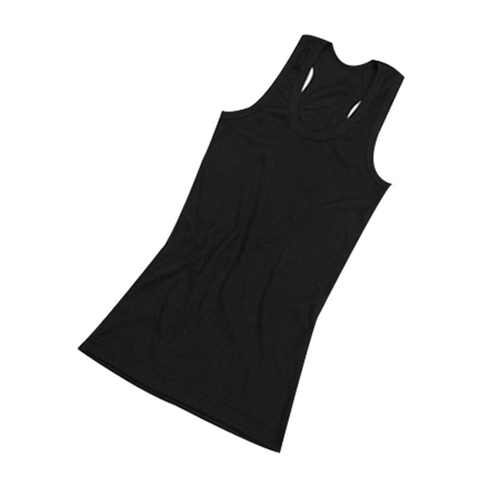Black Slimming Ladies Causal Stretchy Solid Vest Camis Racerback Casual Fashion Sexy Stylish Chic Slim Fit O Neck   Tank     Tops