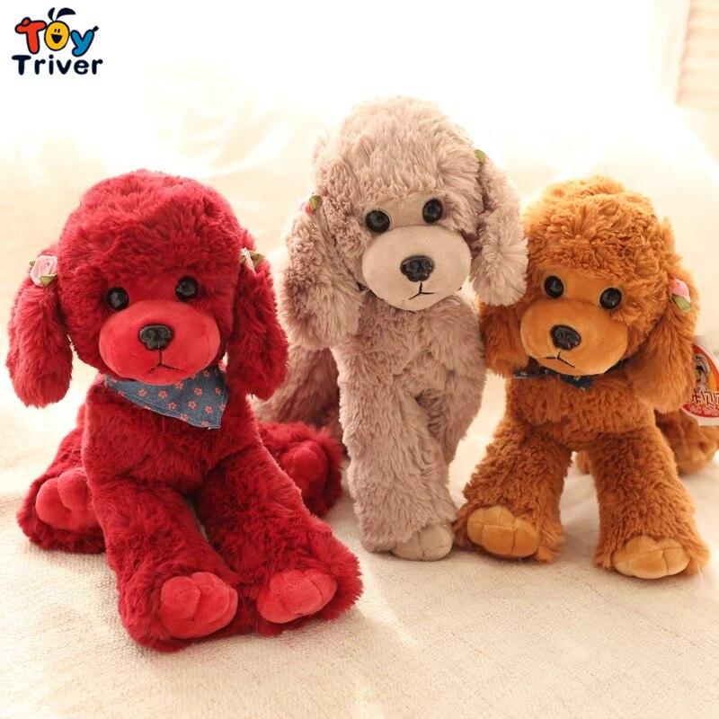 Cane di barboncino di peluche peluche giocattolo triver bambola di