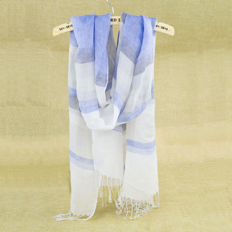 1 Dozen Cotton Linen Long Scarves Thin Soft Colorful Women Scarf With Tassels Womens Stripe Scarfs Vintage For Office Lady