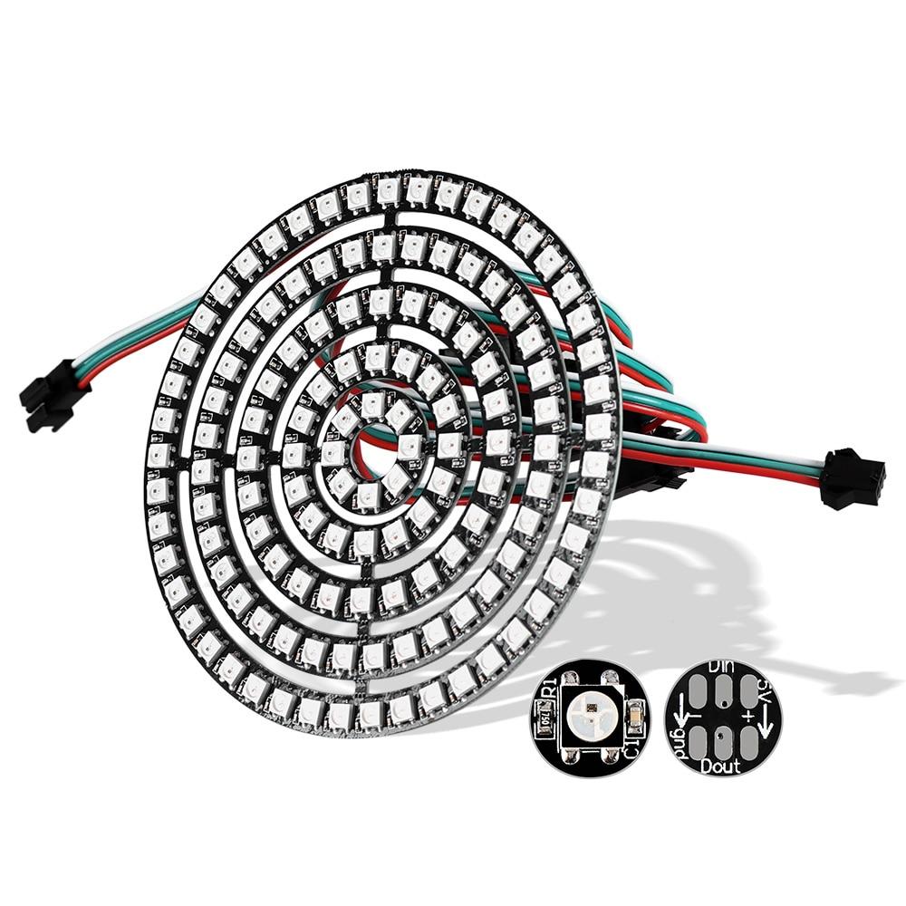 WS2812B LED Module 5050 RGB Pixel LED Ring 1Bit 8Bit 16Bit 24Bit 35Bit 45Bit WS2812 IC Full-color Actuate Lights DC5V