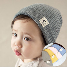 Children Cotton Knitted Hat Girl Boy Cute Winter Hats For Girls Ear Warm Thick Caps Child Beanies Kids Hat For 1-3 Years GH657(China)