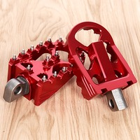 1Pair Red Rotating Footpegs Custom Chopper Foot Pegs For Harley Sportster XL Iron 883 Dyna Softail Models