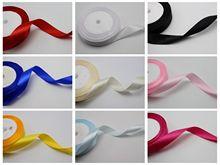 25 ярдов 3/4 (20мм) свадебные бантики ремесла атласные ленты выбрать свой цвет