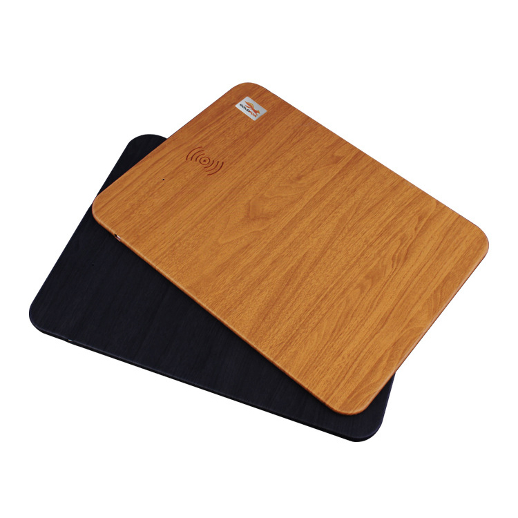 2 in 1 Wood qi Wireless Charger Charging Pad for Samsung Galaxy S8 S7 Note 8 Wireless Charging Mouse Pad for iPhone X 8 8Plus