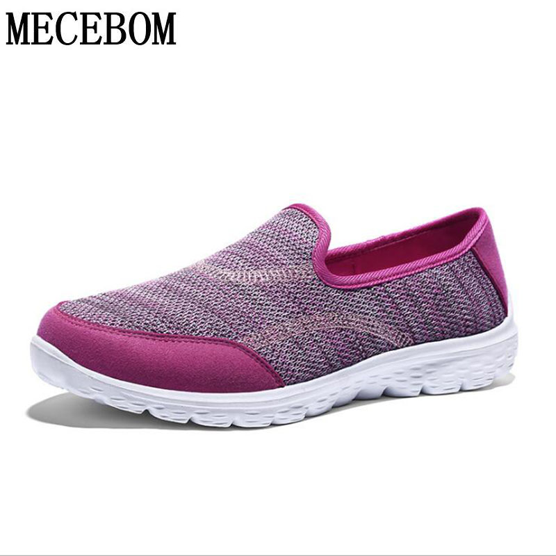2018 Summer Hollow Mesh Camping Flat Heel Wedge Platform Sneakers Sport Shake Loafer Wom ...
