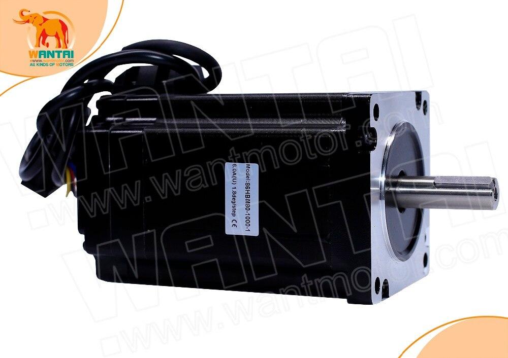(Barco de la UE) 1 unidad Wantai motor de paso de bucle cerrado 86HBM80-1000-1, servomotor 9N. m Nema 86 Hybird motor paso a paso de circuito cerrado de 2 fases