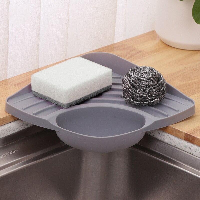 Creative Kitchen Sink Drain Rack Organizer Multi-Function Home Kitchen Dish Cloth Storage Rack Tray Drain Basket