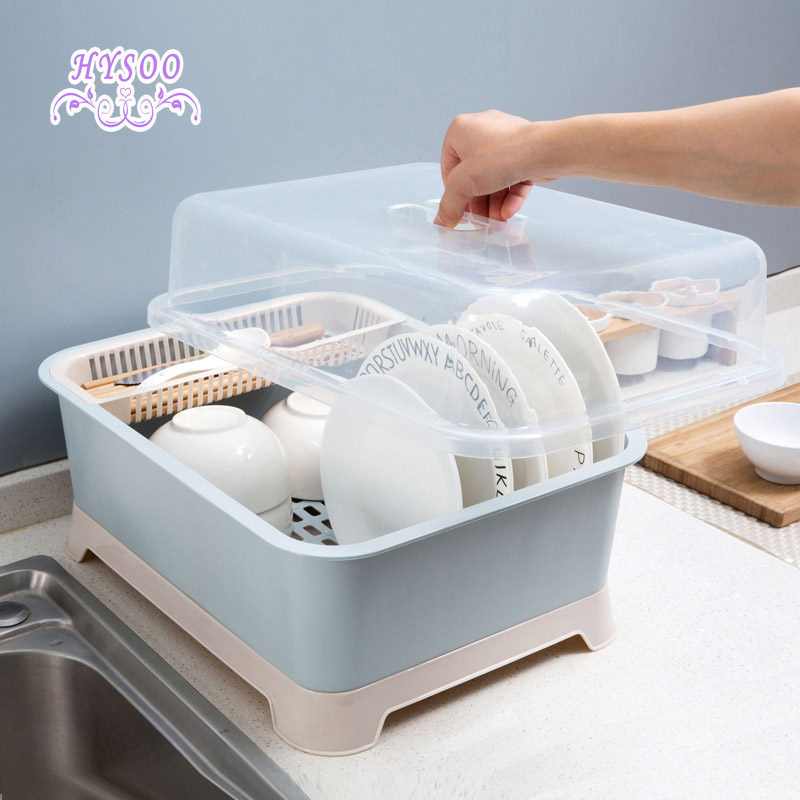 Avec un bol porte-boîte de rangement égouttoir chargé de baguettes boîte de rangement cuisine placard rack