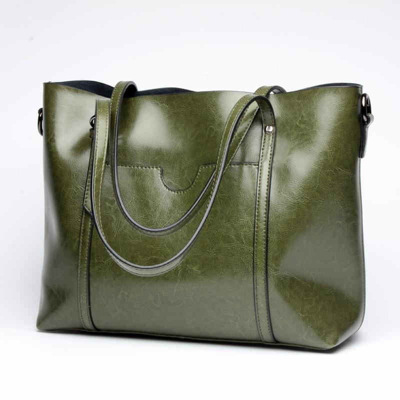 4578f8c52e Main En Shopping Black Sac brown Femmes green Nouveau Mode blue L'argent  Cuir D'épaule ...