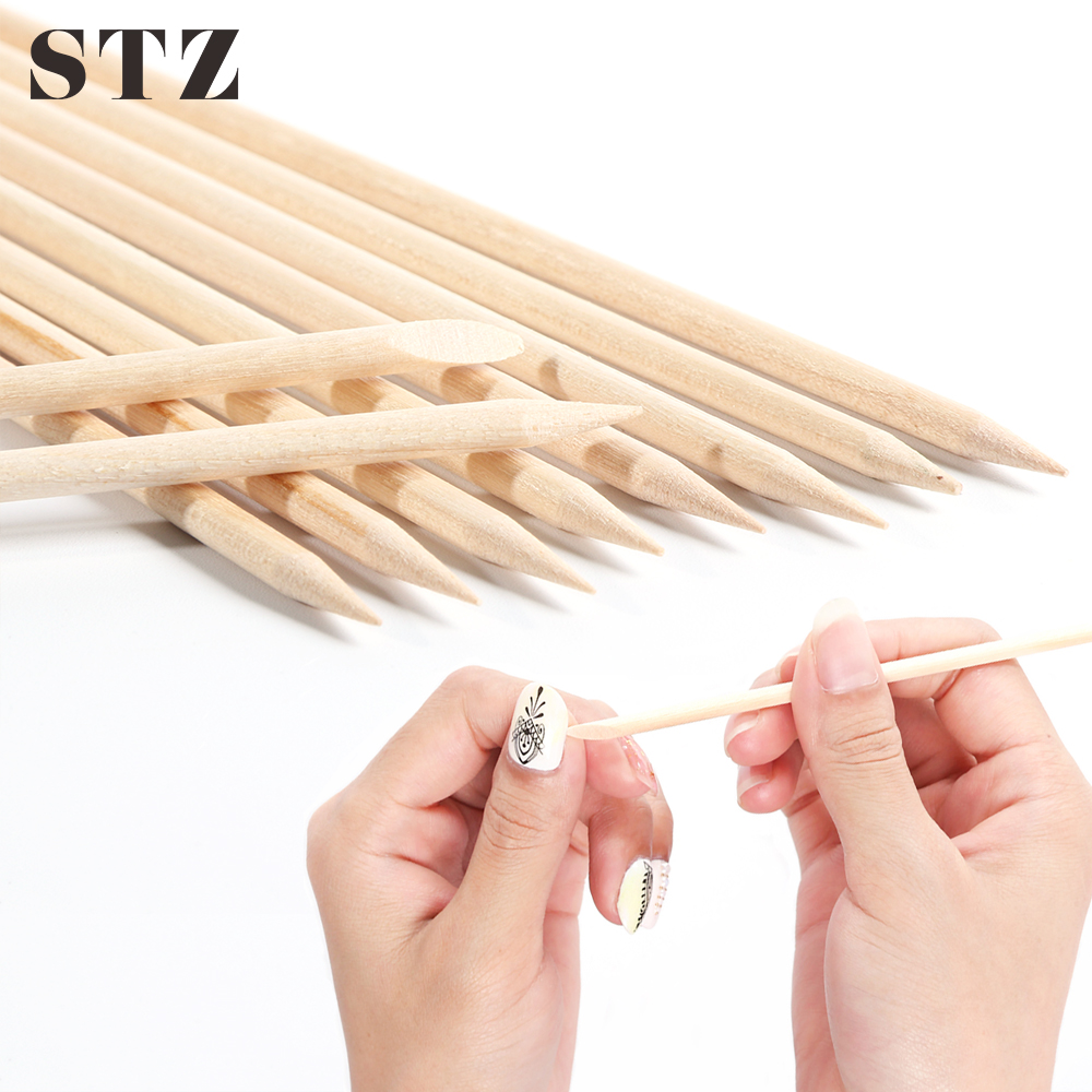 STZ 3 Types Nail Art Orange Wood Stick Pusher Remover Picker Cuticle Nail Designs Manicure Pedicure Care Tools Accessories #709