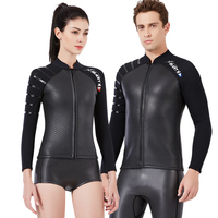 shark skin diving suit, men's 3mm split diving jacket, women's surfing, snorkeling, warm swimming suit, couple's wet clothes