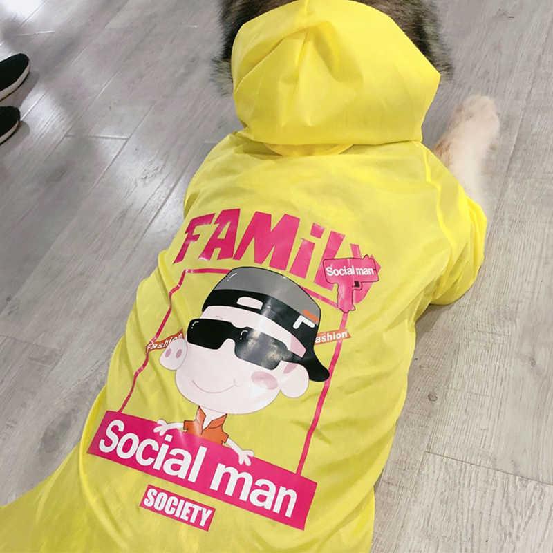 개 소유자 남자 여자 부모-자식 Riancoat 점프 슈트 개를위한 비옷 애완 동물 망토 래브라도 방수 골든 리트리버 자켓