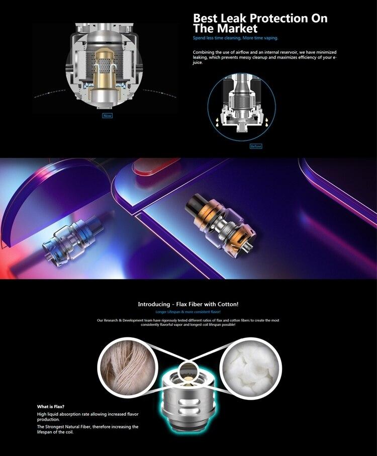 New Original Vaporesso SKRR Vape Tank 82ml Capacity with Quadflow Air Distribution System & QF Strips Coil E-cig Vape Atomizer (3) -